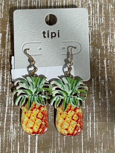 Epoxy Pineapple Earrings