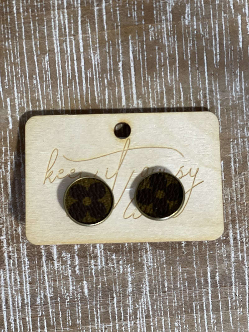 Upcycled LV Studs