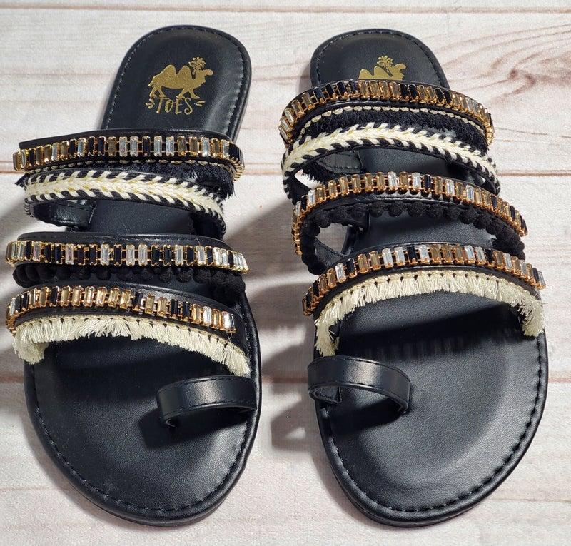 Boho Camel Jet Sandals