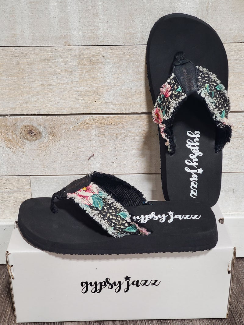 Wild Floral Gypsy Jazz Sandals