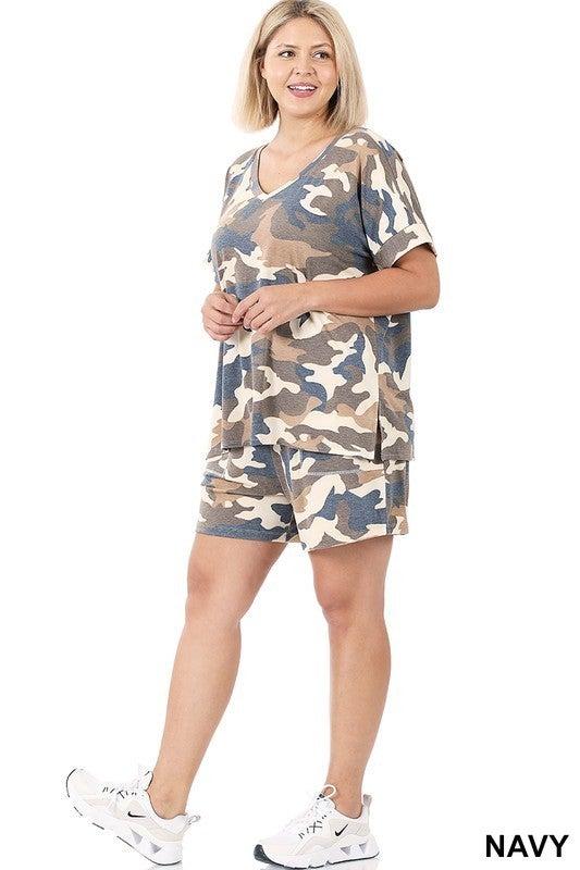 Camo Tee & Shorts Set