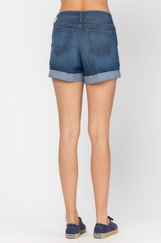 On a High Judy Blue Shorts