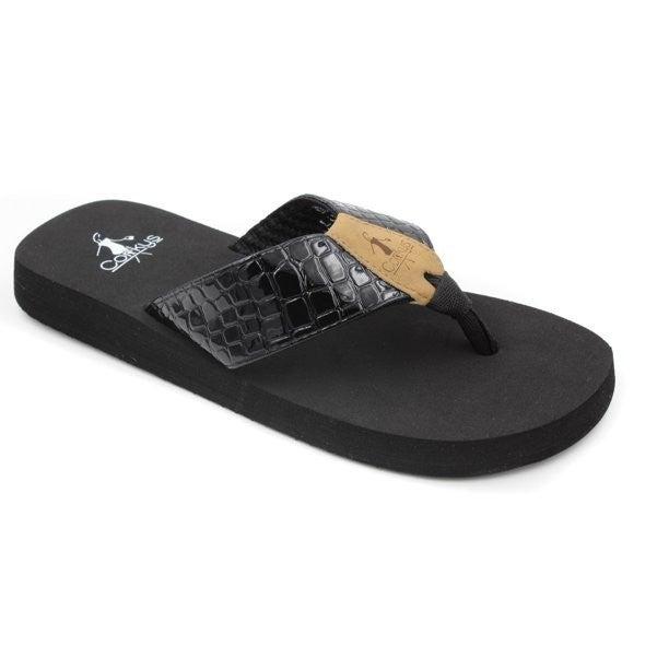 Black Beachball Flip-Flops