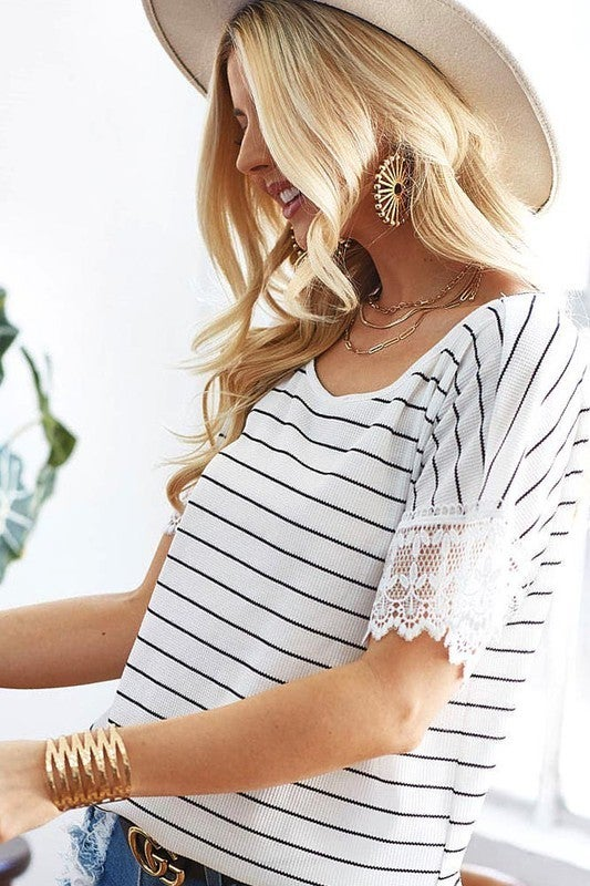 Striped Thermal Knit Top