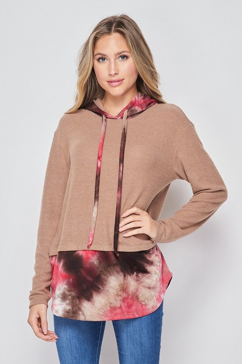 Twisted Autumn Sunset Hoodie Top