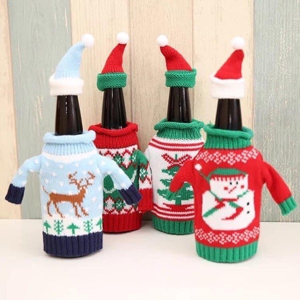 Holiday Sweater Bottle Covers