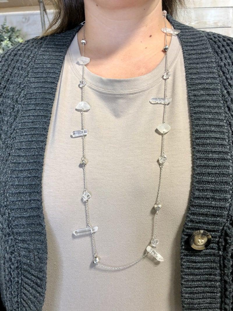 Stone & Lucite Necklace