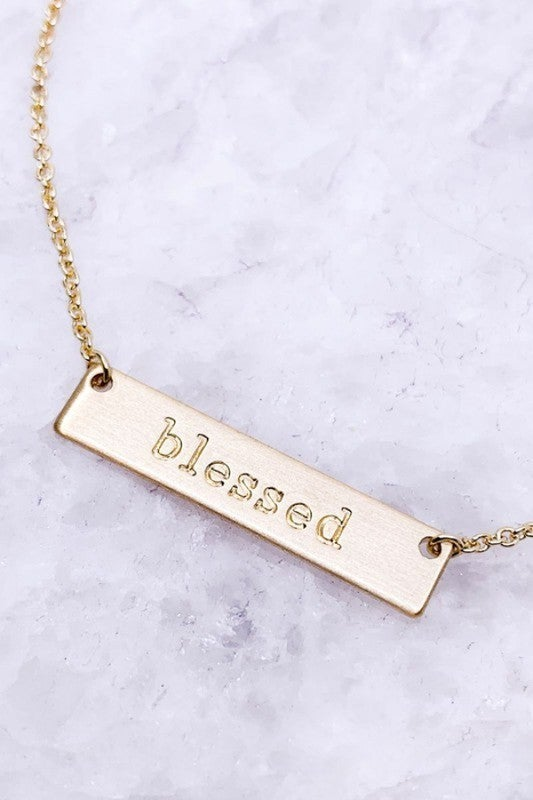 Blessed Faith Plate Necklace
