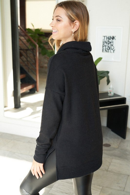 Casual Cowl Neck Sweater