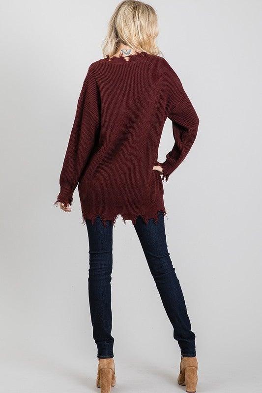 Fancy Fray Sweater