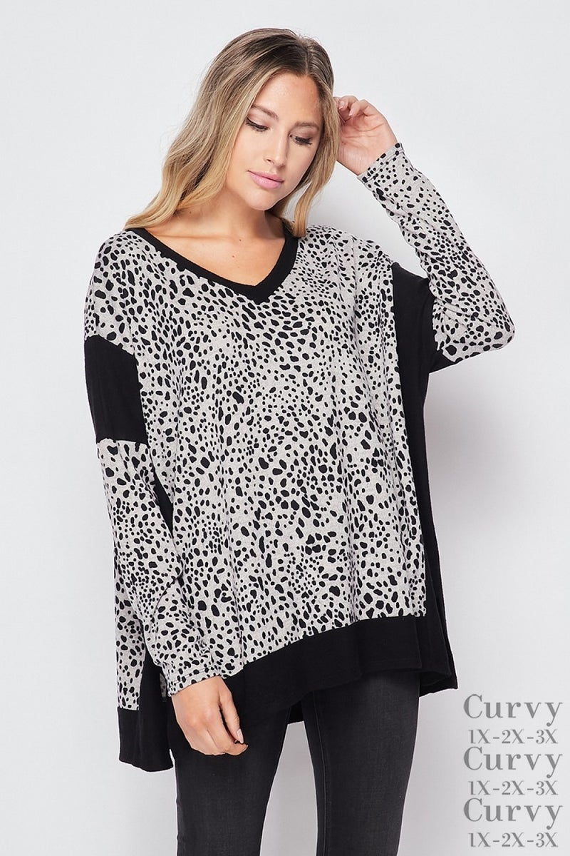 Speckled Delight Long Sleeve Top