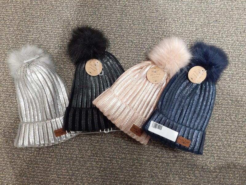 Chicago Market Metallic Pom Hat