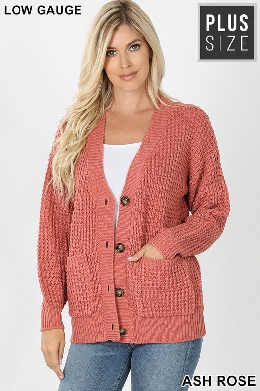 Ready for the Weekend Waffle Cardigan Sweater