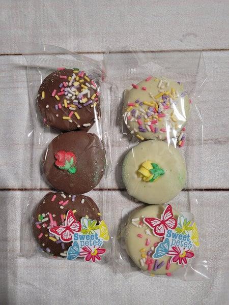 Chocolate Covered Spring Oreos