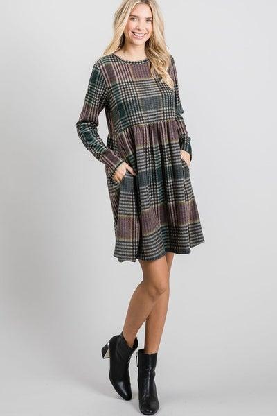 Just Be Plaid Dress