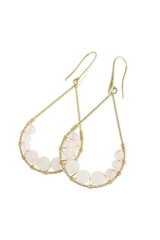 Sassy Stone Teardrop Earrings