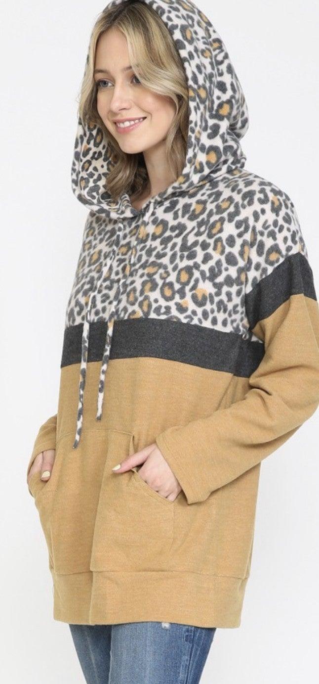 Leopard Latte Hoodie