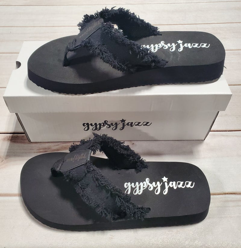 Black Gypsy Jazz Sandals