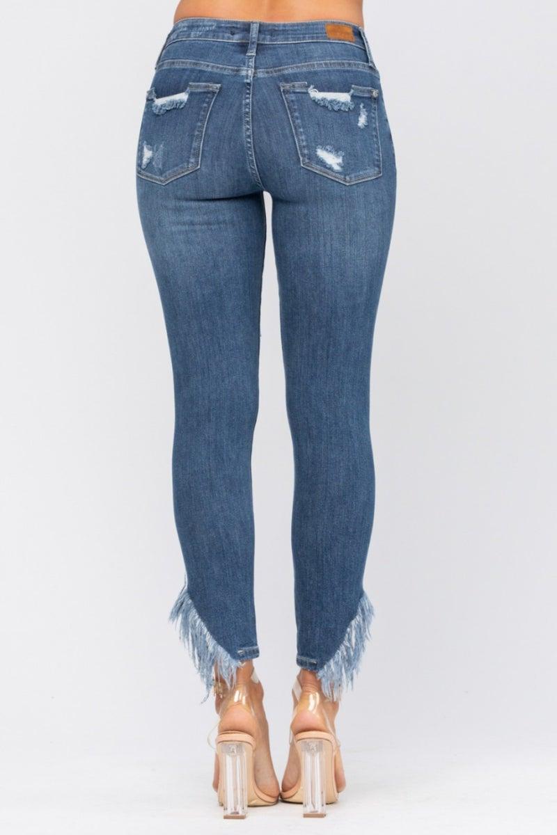 Edged In Fringe Jeans