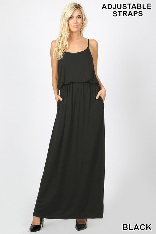 Flattering Maxi Dress With Two Layers