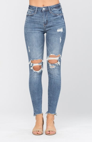 Worn to Perfection Judy Blue Skinny Jeans
