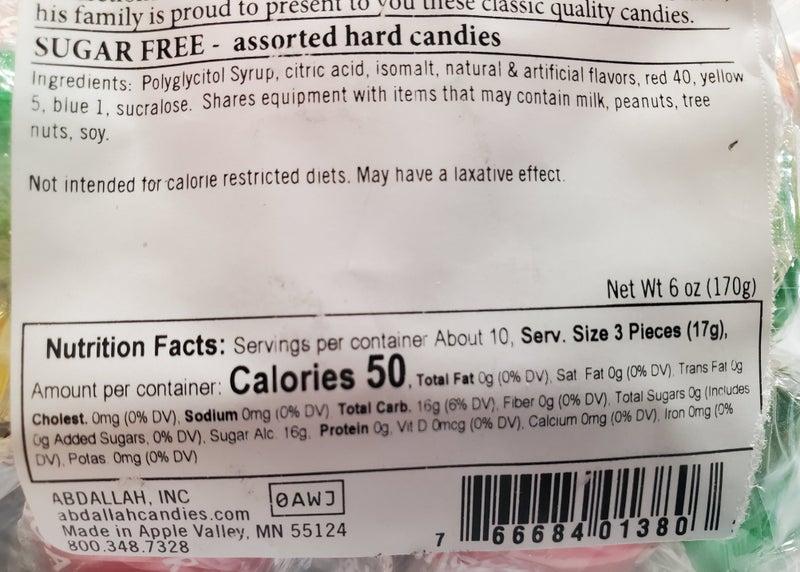 Sugar Free Hard Candies