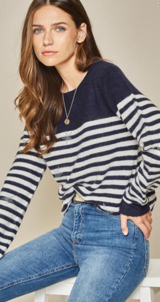 Starlight Starbright Striped Sweater Top