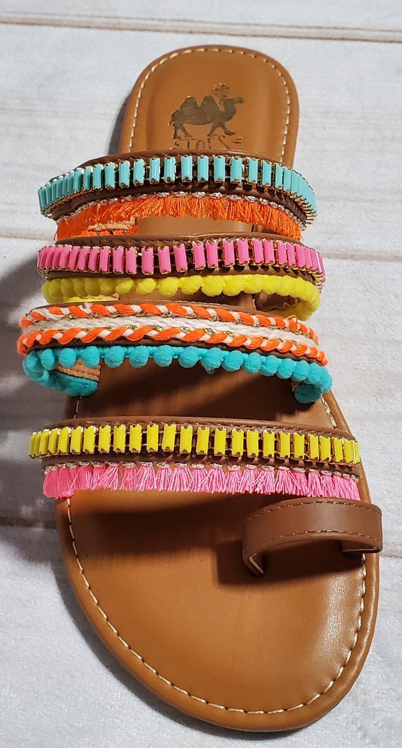Boho Camel Bright Sandals