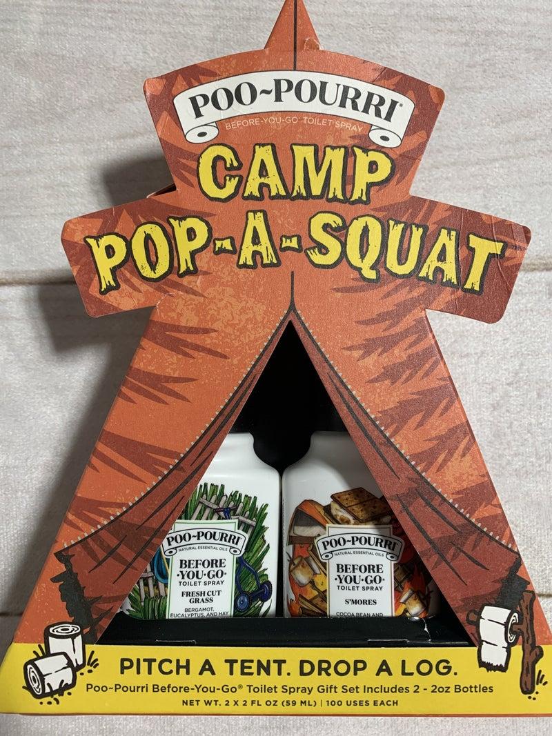 Poo-Pourri Camp Pop-A-Squat
