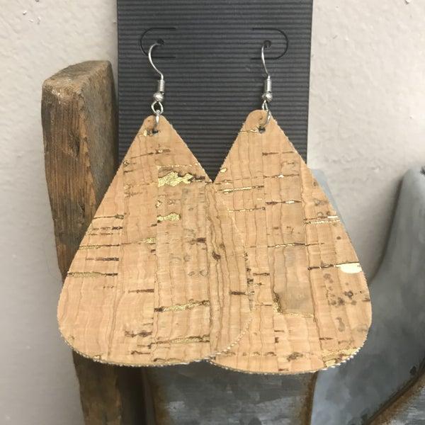 Cork Leather Earrings