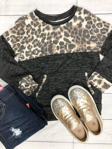 Girls Cheetah Print Top