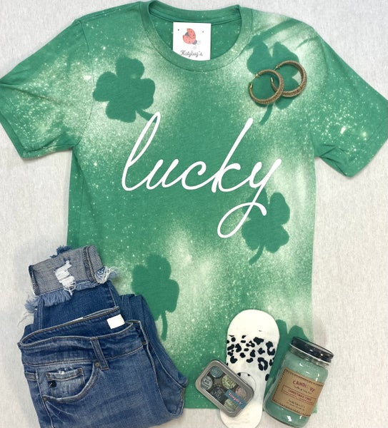 Bleached Lucky Top
