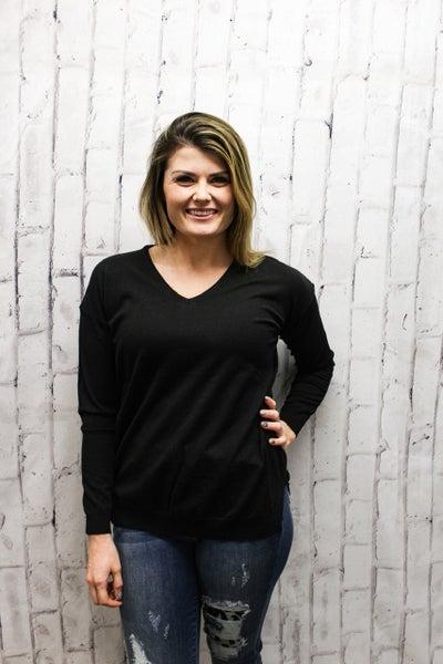Head Over Heels Sweater - Black