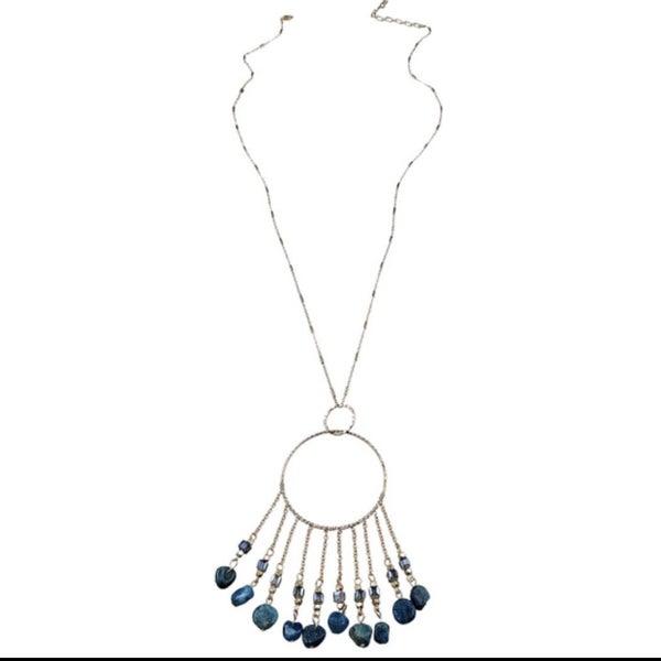 Blue Gem Stone Necklace