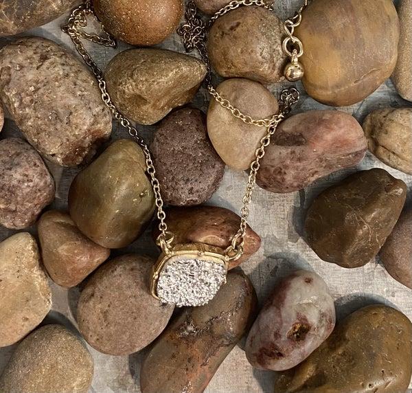 Way Druzy Gold Necklace