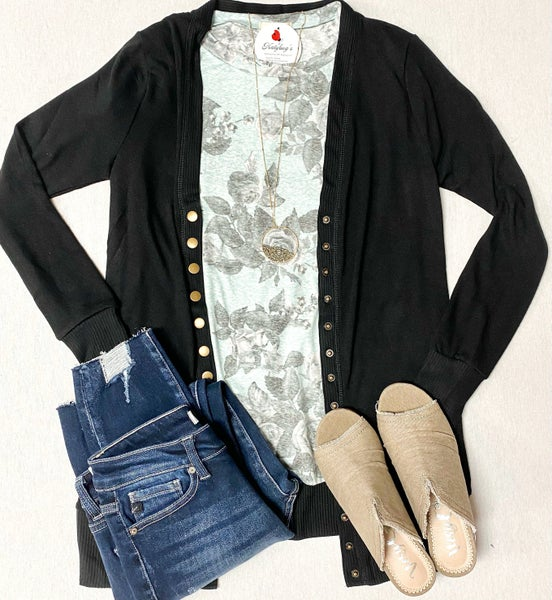 Snap Cardigans With Pockets