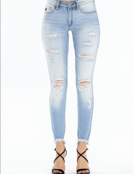 Kan Can Light Wash Mid Rise Jeans