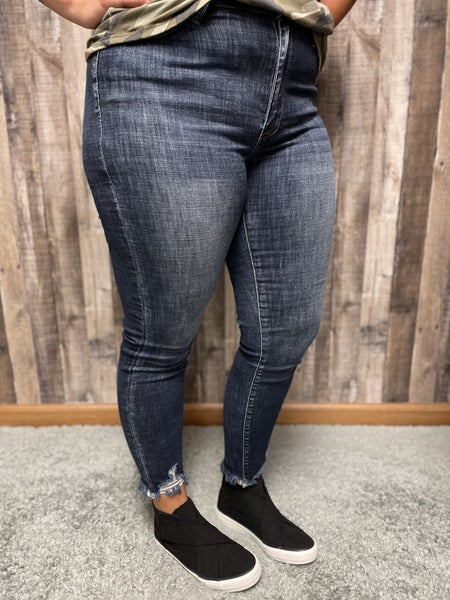 Kan Can High Rise Dark Wash Jeans