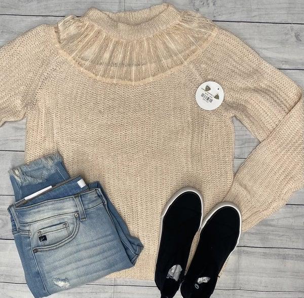 Cream Lacey Sweater