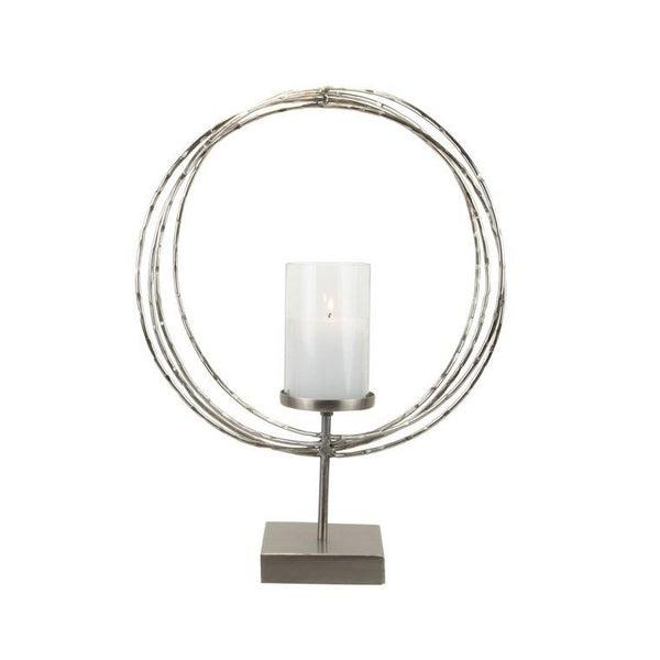 Hammered Ring Pillar Candle Holder
