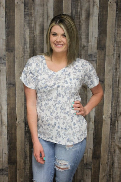 Paisley Floral Top