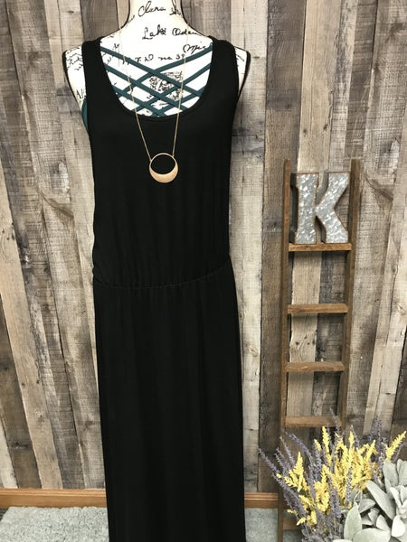 Black Razor Back Dress