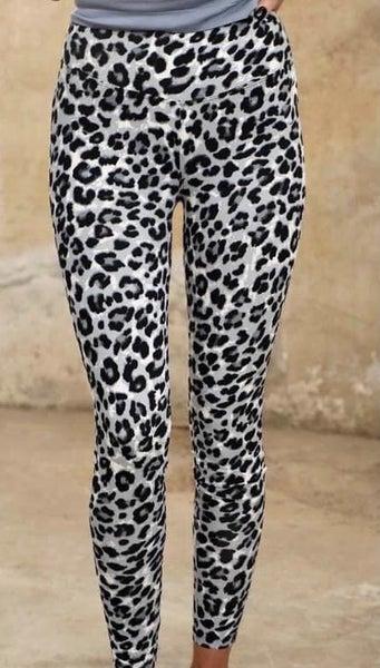 Blue Leopard Leggings