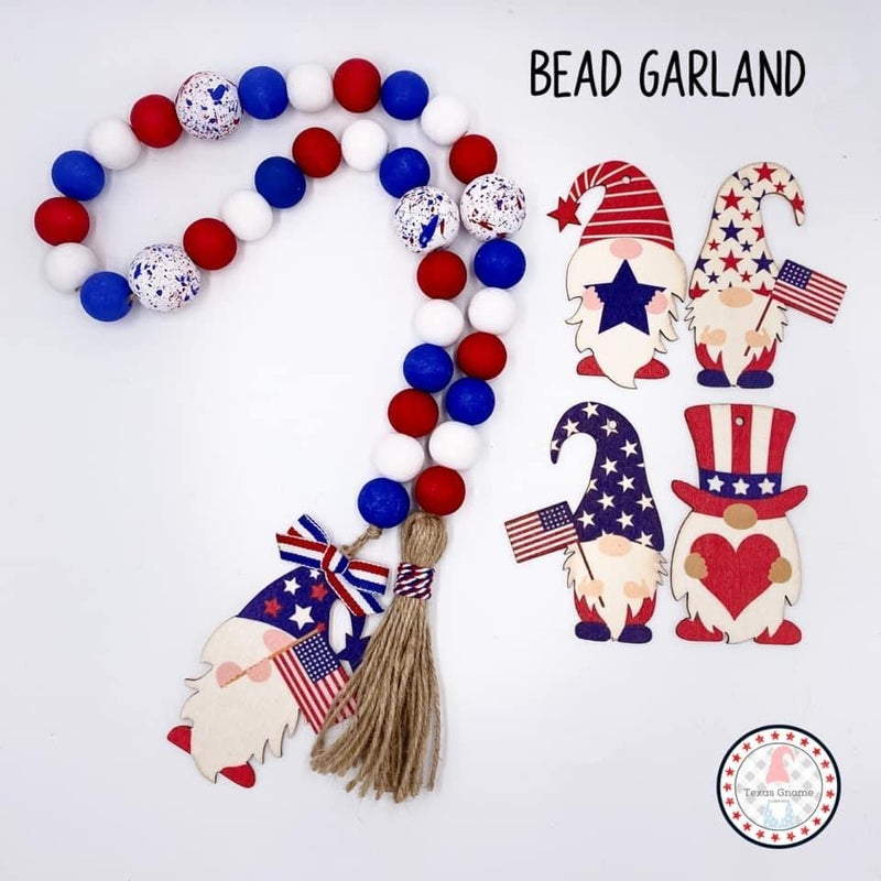 Americana Bead Garland