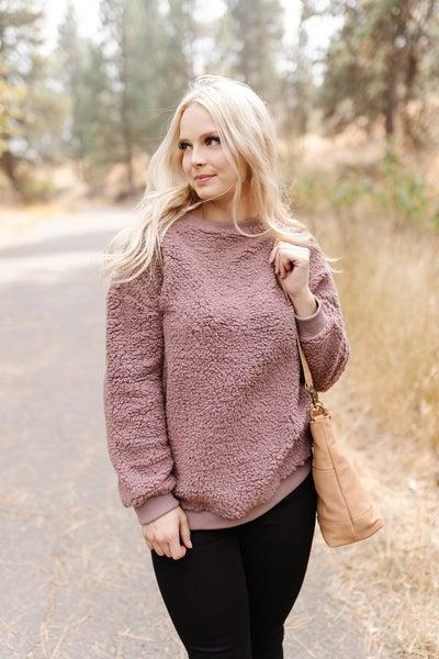 All Hail Sherpa Sweater In Mushroom