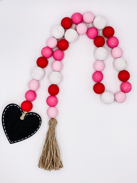 Valentine's Day Bead Garland
