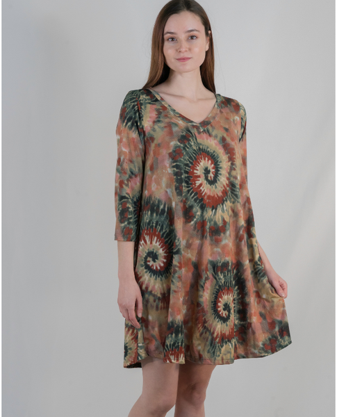 Falling for You Tie-Dye Dress