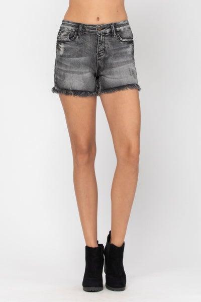Cue the Fray Judy Blue Cut Off Shorts