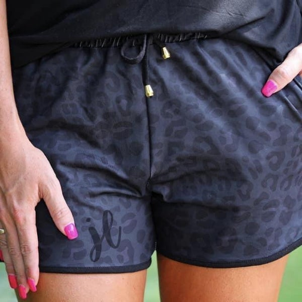 Black Leopard Everyday Shorts