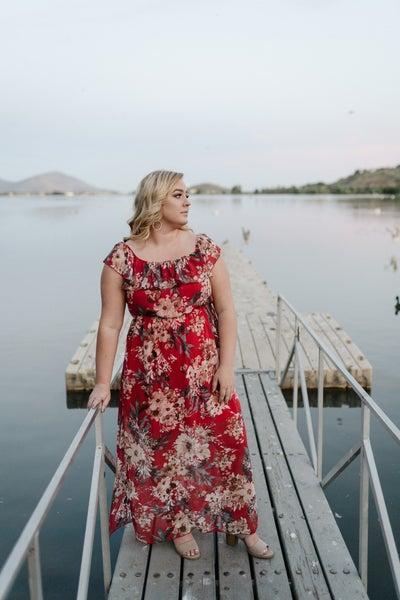 A Walk In The Sunset Maxi Dress